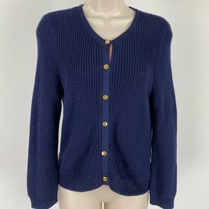 Lauren Ralph Lauren Navy Blue Sweater Cardigan